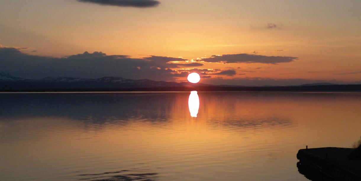 Vakker solnedgang